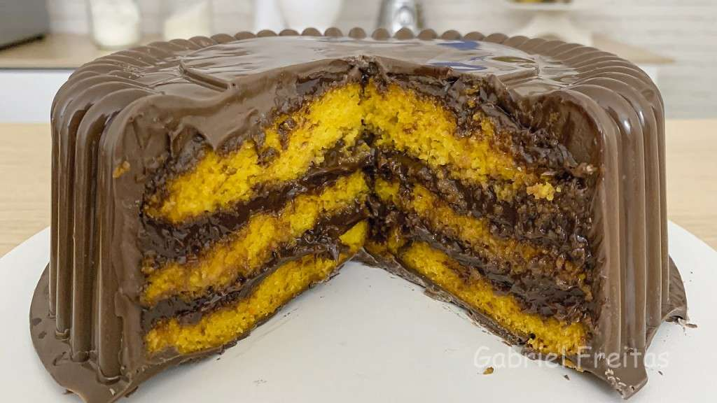 O melhor bolo de cenoura com chocolate do mundo