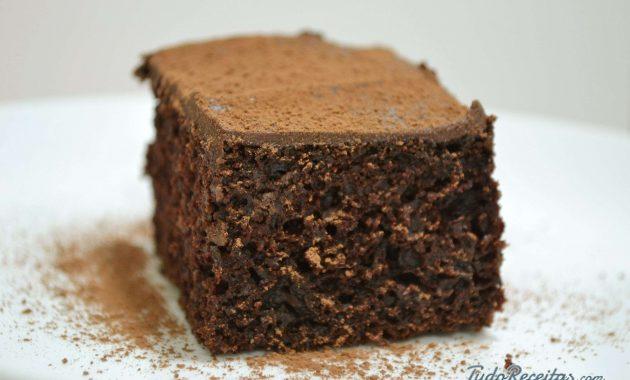 Receita de Bolo integral de chocolate fácil