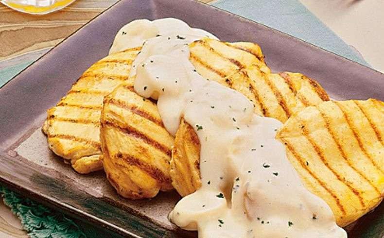 Receita de Filé de frango com molho de palmito para almoço