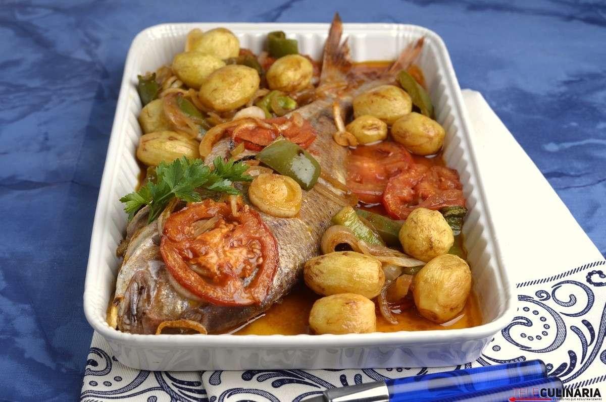 Receita de Peixe no forno à portuguesa