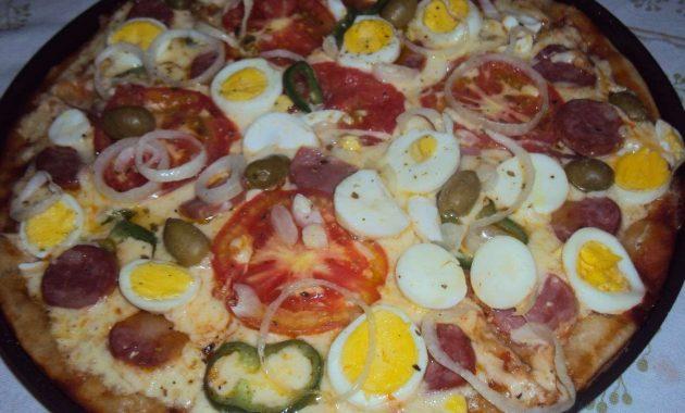 Receita de Pizza Portuguesa Deliciosa