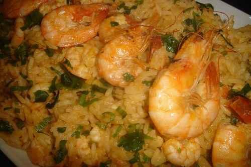 Receita de Virado de arroz com camarão