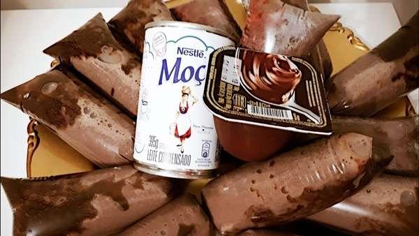 Receita de Geladinho gourmet de chocolate TudoGostoso