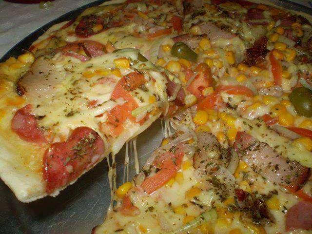 Receita de Pizza de liquidificador