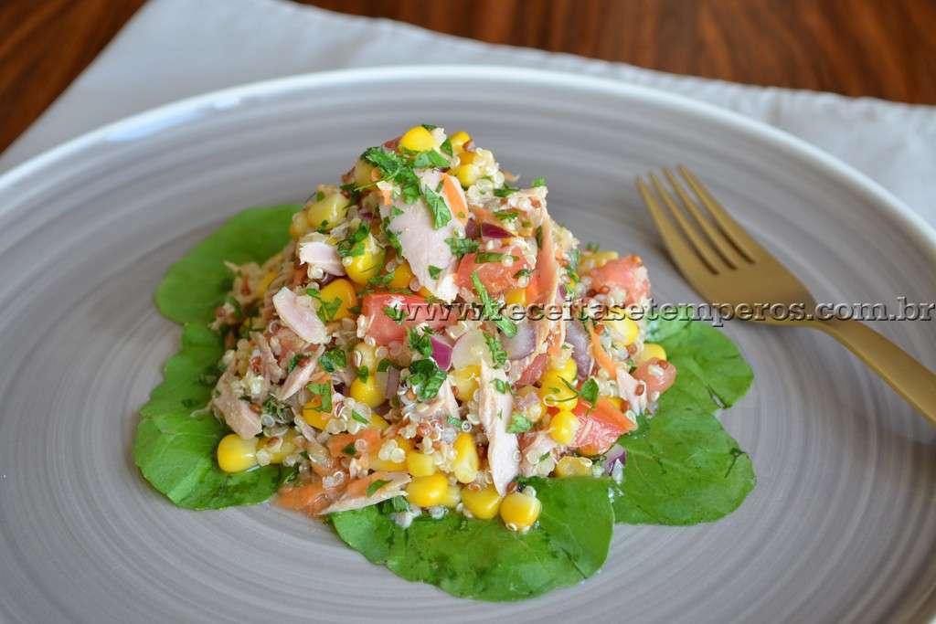 Receita de Receita de Salada de quinoa com atum
