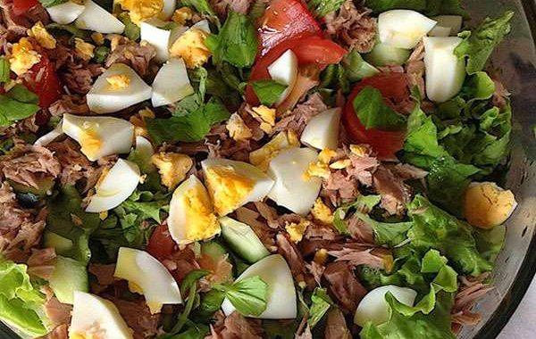 Receita de Salada de Atum Low Carb