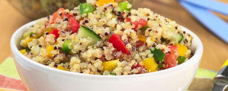 Receita de salada de quinoa Rápida