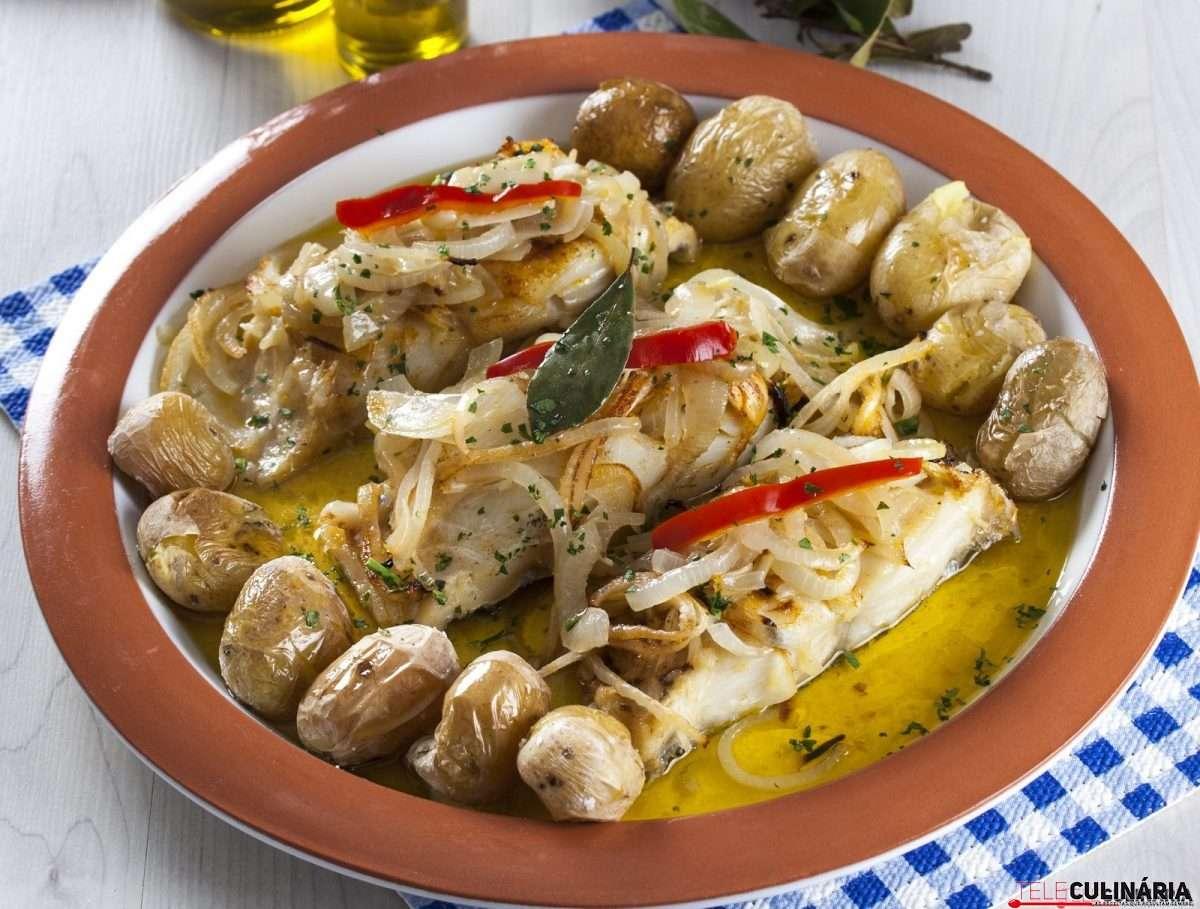 Receita de Bacalhau de forno com Batatas