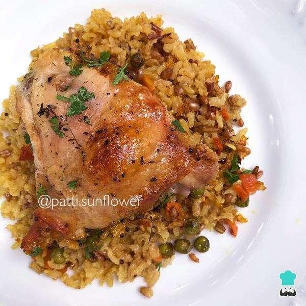Receita de Caçarola de frango com arroz