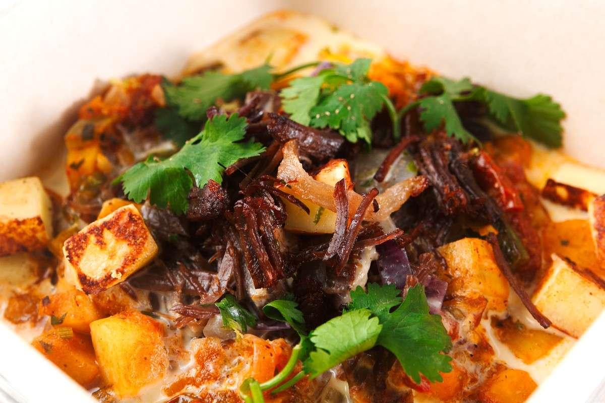 Receita de Cortadinho de Legumes com Carne de Sol na Nata