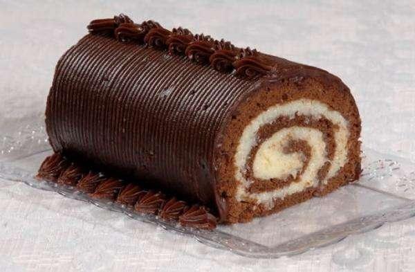 Receita de Rocambole de chocolate com coco