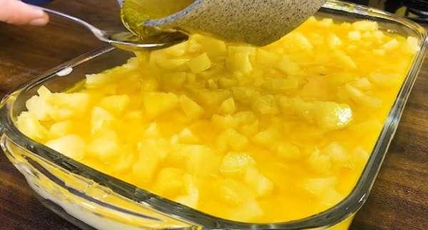 Receita de Sobremesa de Abacaxi com Leite Condensado