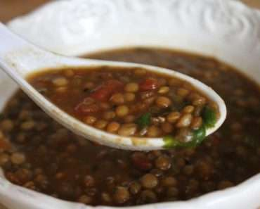 Receita de Sopa de lentilha para o Ano Novo