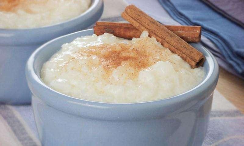 Receita de arroz doce pratico Fácil
