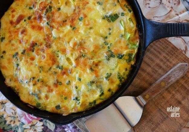Receita de omelete low carb com abobrinha