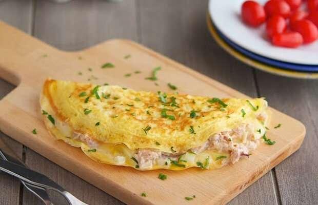 Receita de omelete low carb com atum