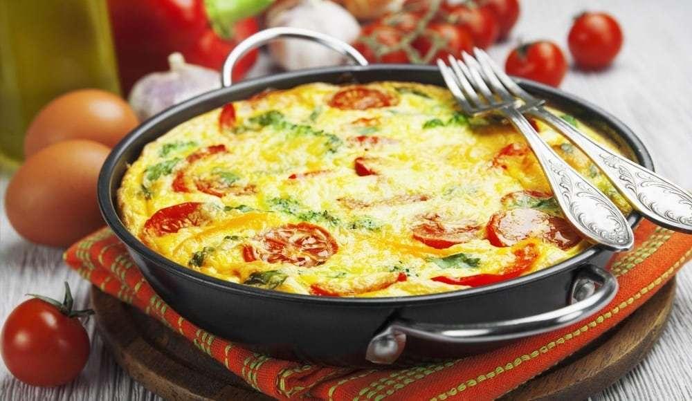 Receita de omelete low carb com couve-flor