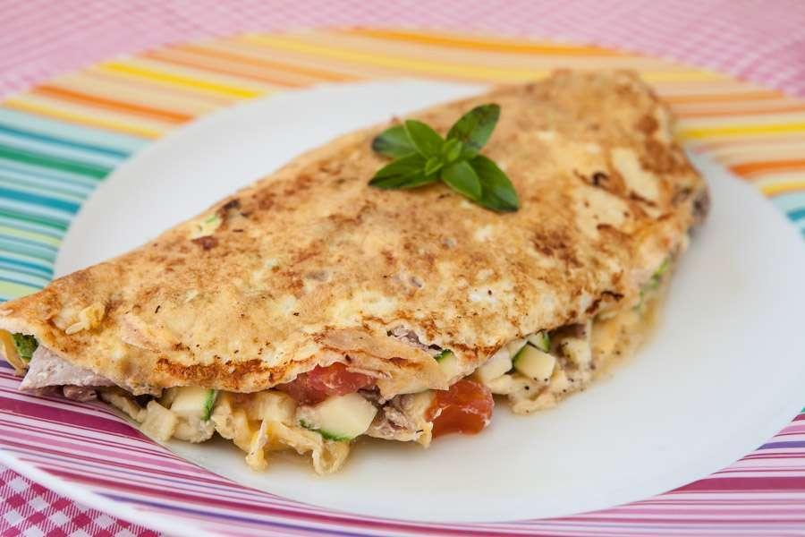 Receita de omelete low carb com frango