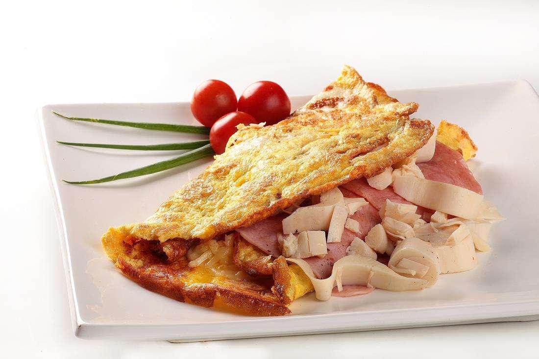 Receita de omelete low carb com palmito