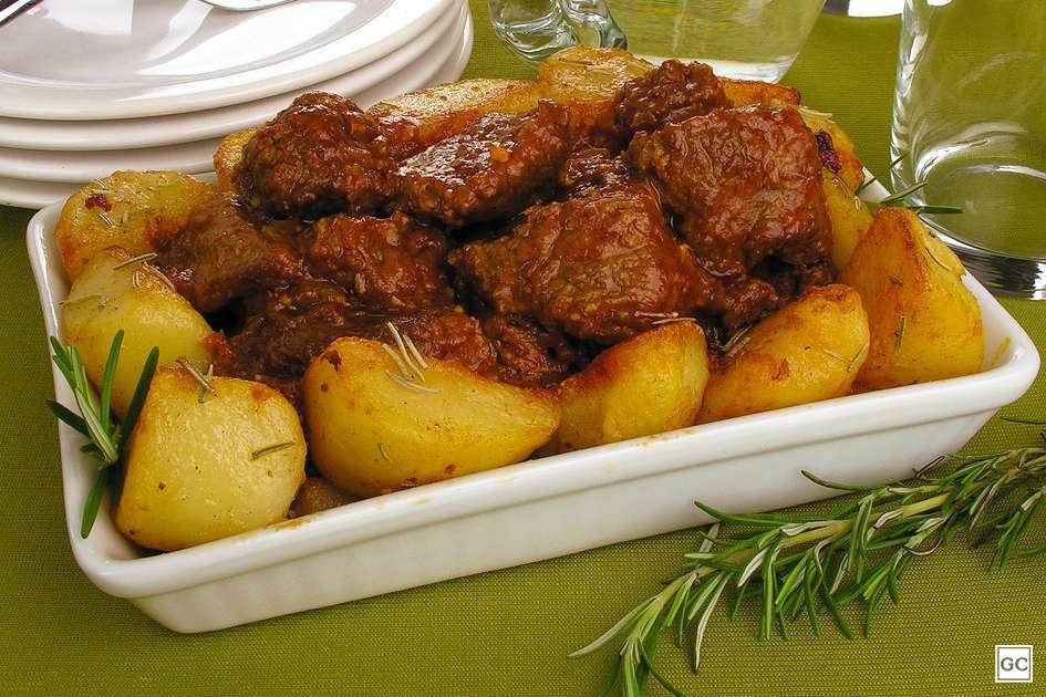 Ingredientes da Carne de panela com batata dourada