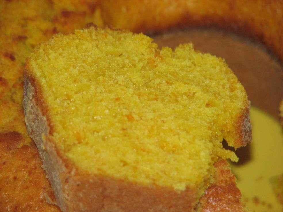 Receita de Bolo de laranja e cenoura