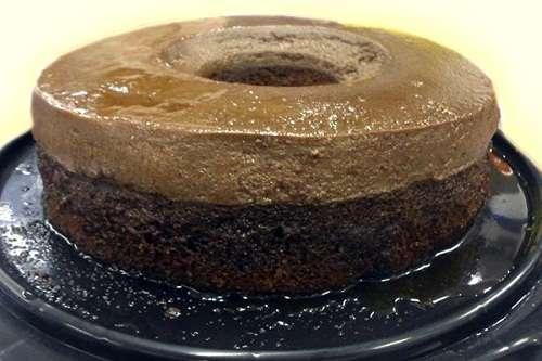 Receita de Bolo pudim de chocolate da Vovô
