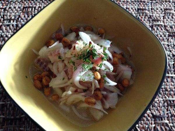 Receita de Ceviche de tilápia no Potinho