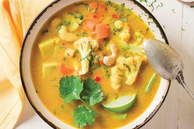Receita de Curry de legumes para Almoço Vegano