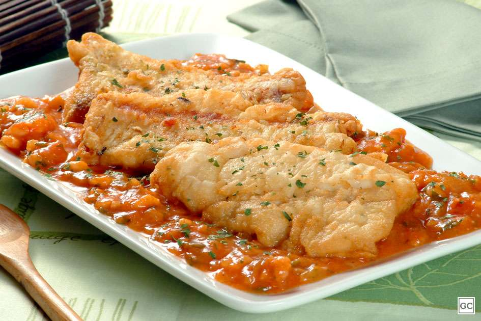 Receita de Filé de Merluza com molho de camarão