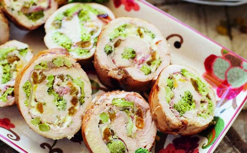 Receita de Filé de frango recheado com brócolis, bacon e cream cheese