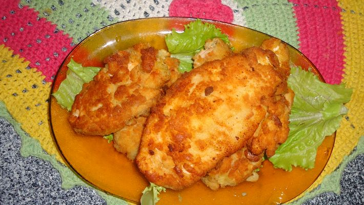 Receita de Filé de peito de frango à milanesa