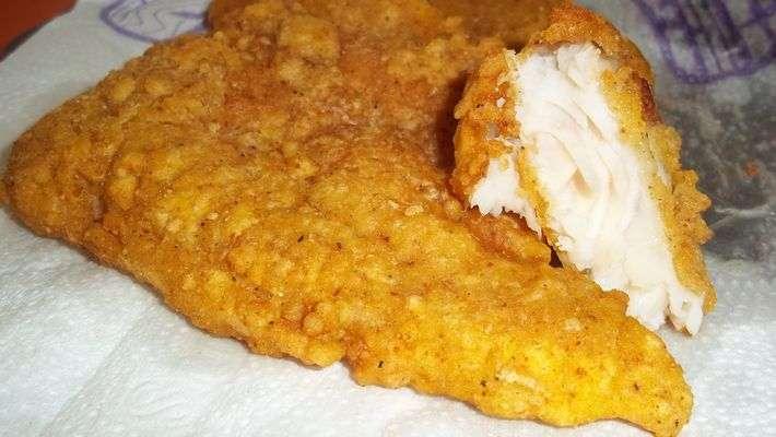 Receita de Filé de peixe Merluza empanado e Crocante