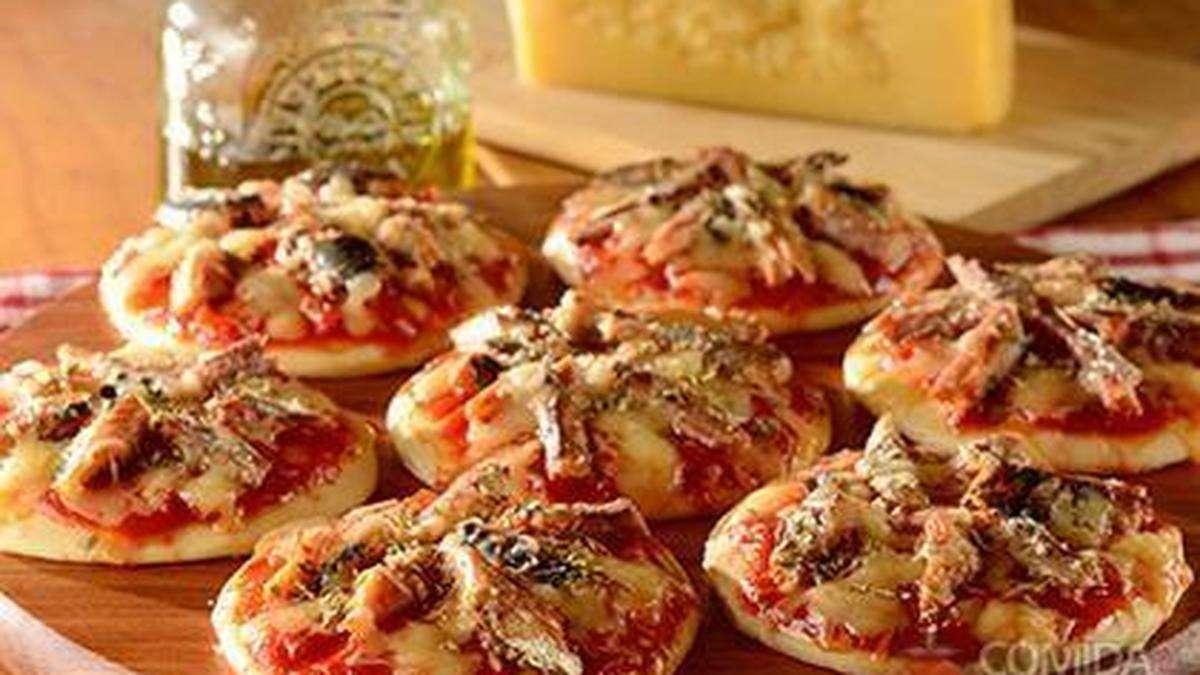 Receita de Mini pizza de sardinha Rápida