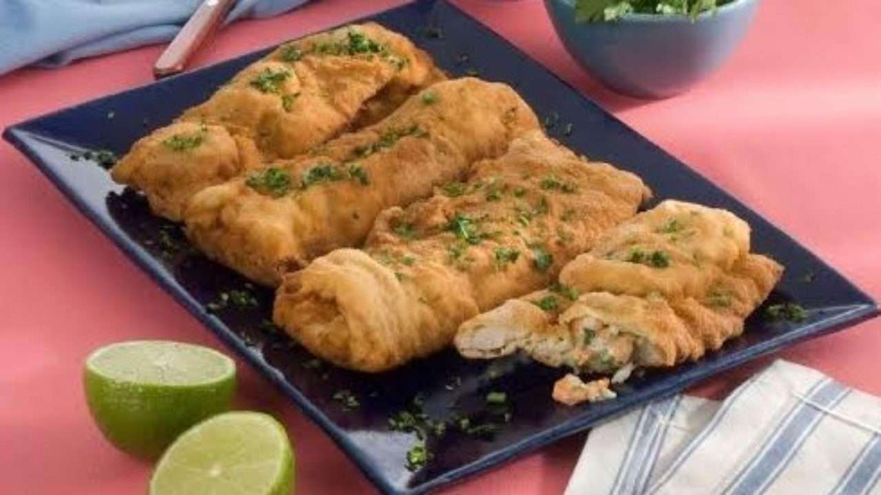 Receita de Peixe Merluza frito recheado