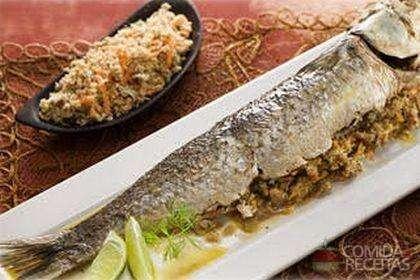 Receita de Peixe recheado com atum