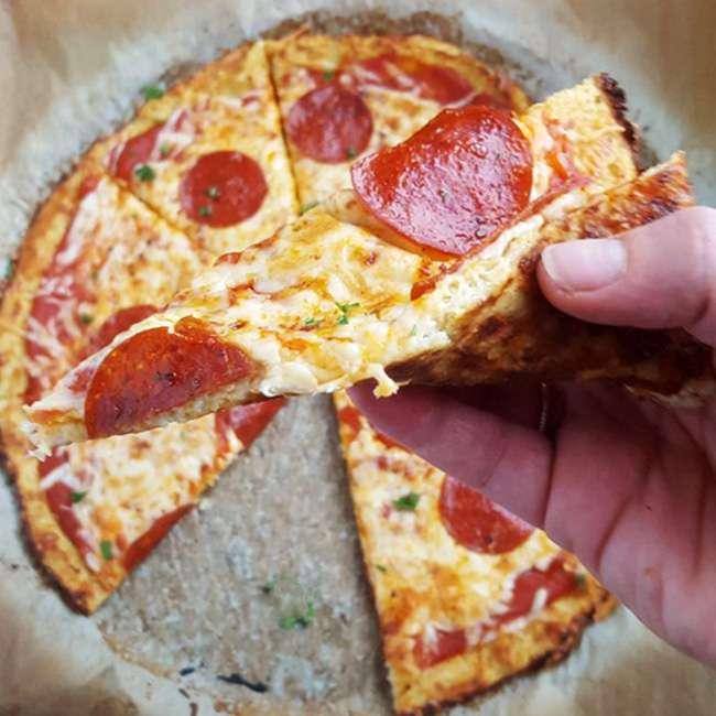 Receita de Pizza Sem Carboidrato Low Carb