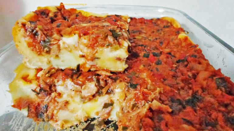 Receita de Pizza de Sardinha Saborosa