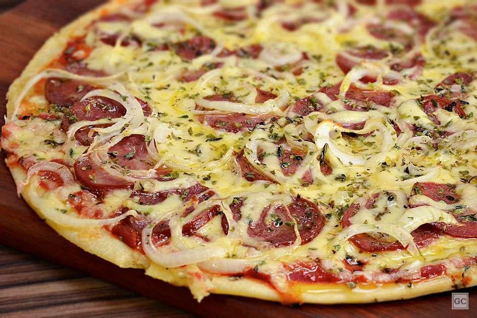 Receita de Pizza de liquidificador Diferente Pode Adicionar Calabresa