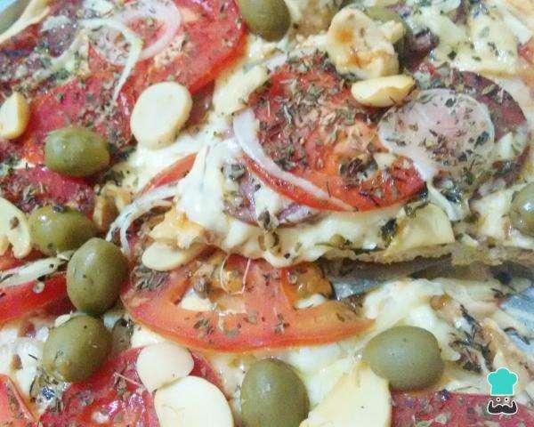 Receita de Pizza tradicional de calabresa