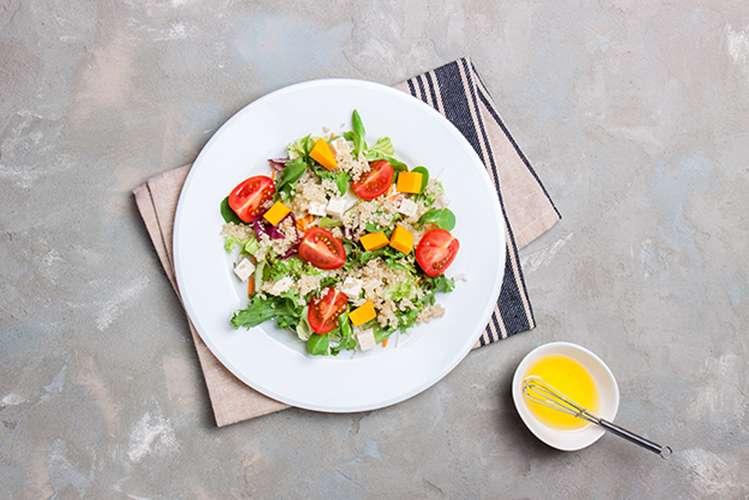 Receita de Salada de abóbora com arroz Cateto integral