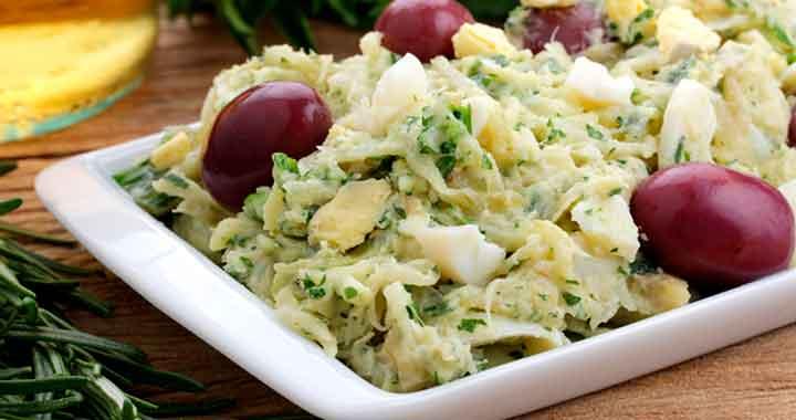 Receita de Salada de bacalhau e batatas para Almoço de domingo