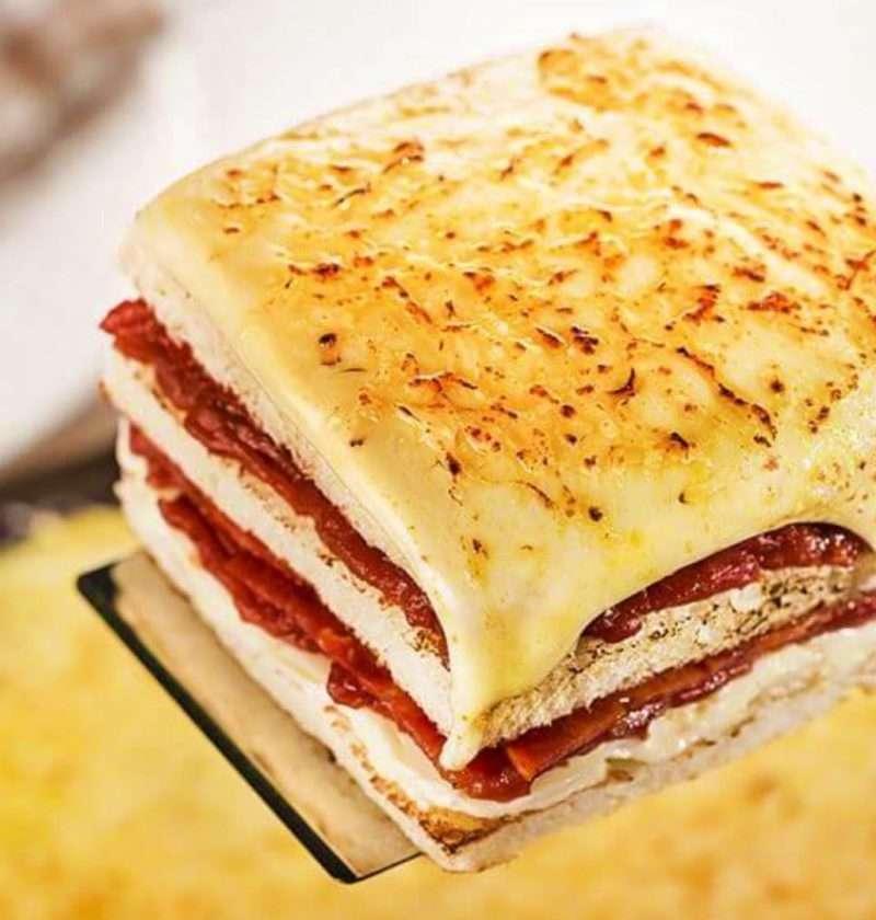 Receita de Sanduíche de forno Crocante
