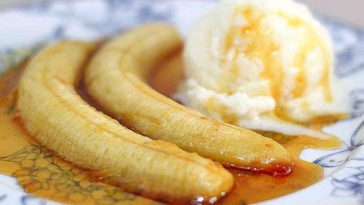 Receita de Banana caramelada com laranja