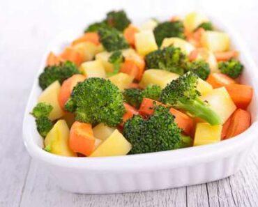 Receita de Legumes cozidos no vapor com gengibre