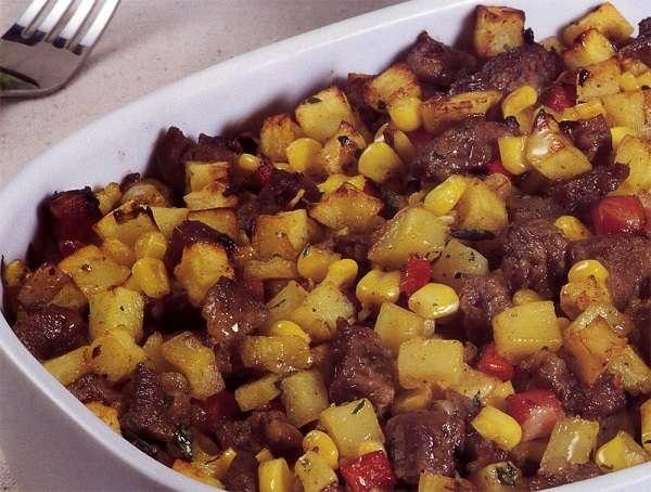 Receita de Picadinho de carne com batata
