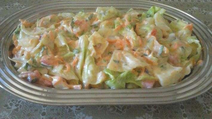 Receita de Salada de repolho com abacaxi