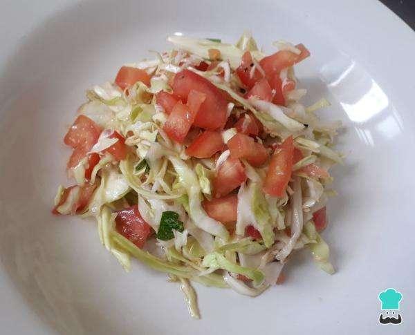 Receita de Salada de repolho com gengibre