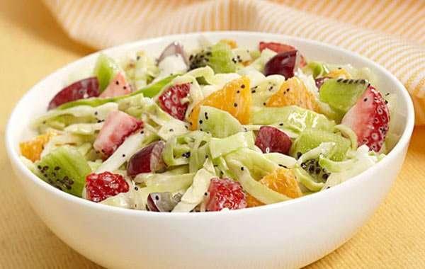 Receita de Salada de repolho com manga