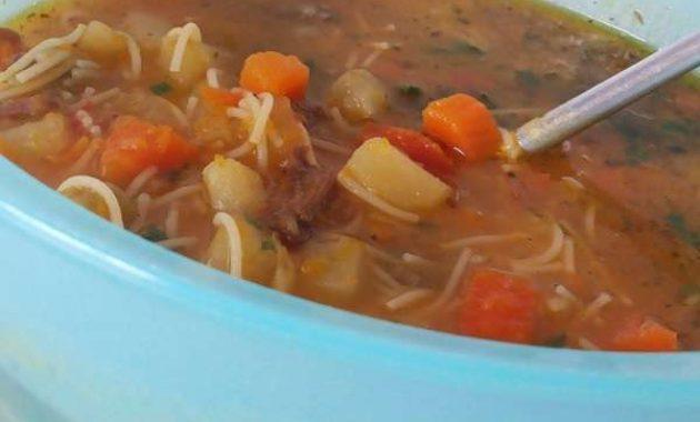 Receita de Sopa de Legumes com Carne Ana Maria Braga