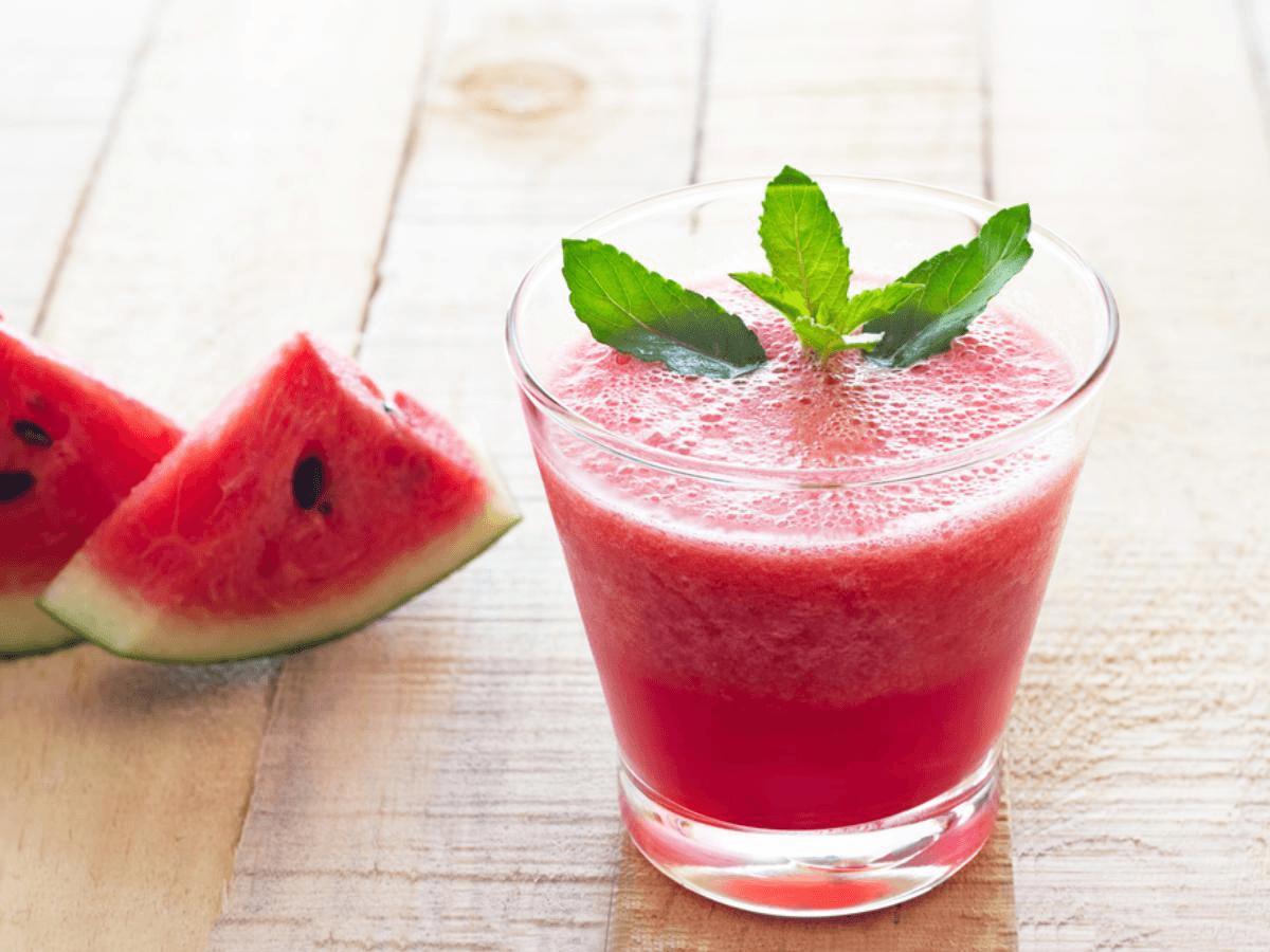 Receita de Suco de melancia com gengibre